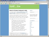 WebBP :: Blog screen shot